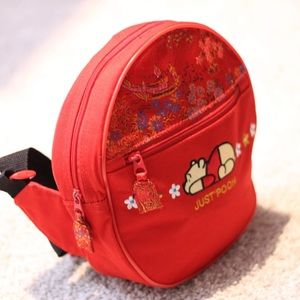 Winnie the pooh red crossbody backpack